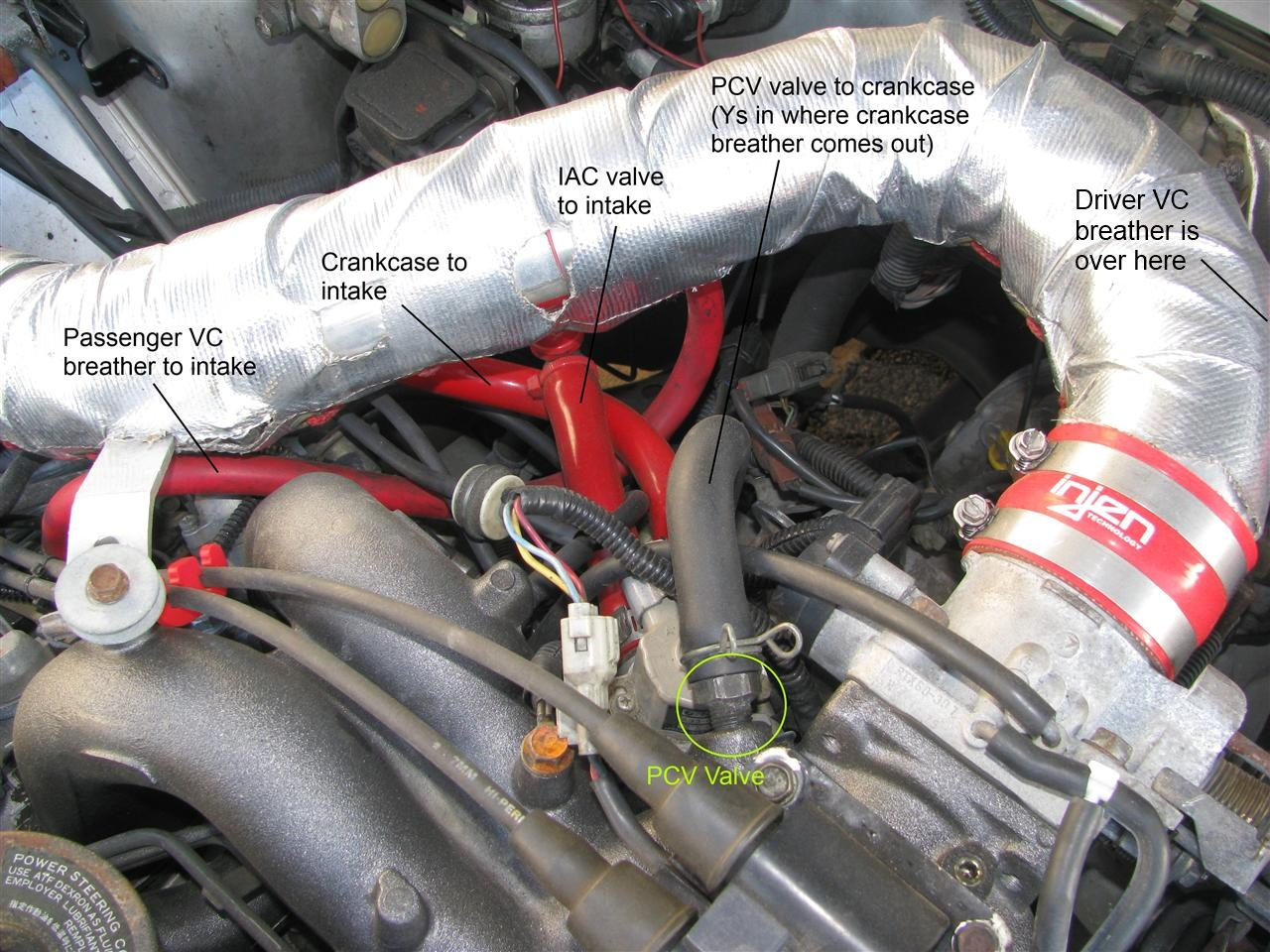 Why Do Na Cars Even Have Pcv Valves Page 2 Nasioc Subaru Boxer 4 Engine Fwd Trans Diagram So Im Pretty Good On How The Operates But Confused About Purpose Of Extra Hose That Runs From Top Block Crankcase To
