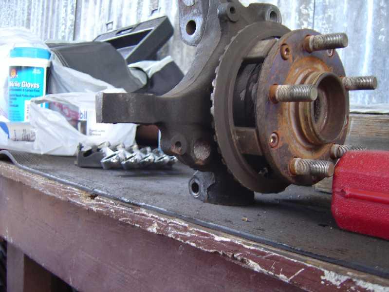 Front wheel bearings loose in spindle/knuckle? - NASIOC