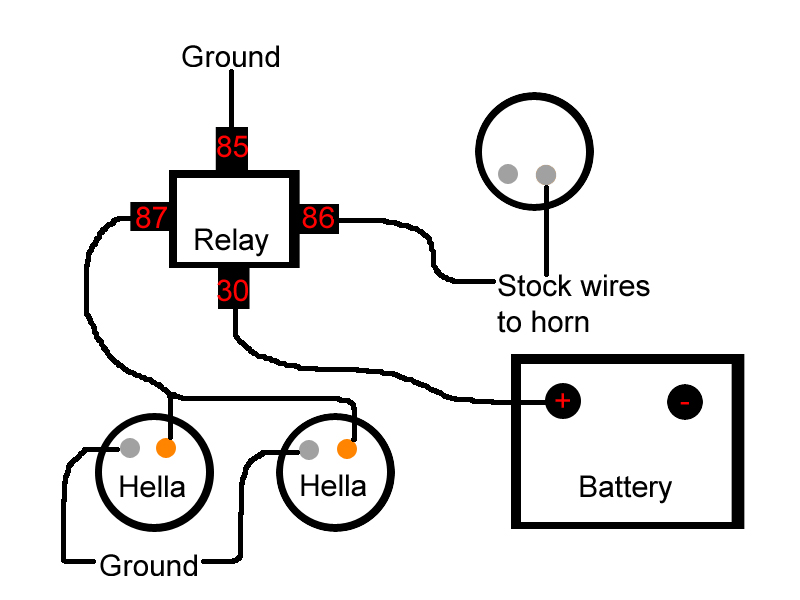 hella horn relay contacts