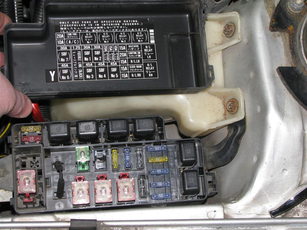 fuse box in subaru forester   01  02  both headlamps stopped working suddently    01  02  both headlamps stopped working suddently